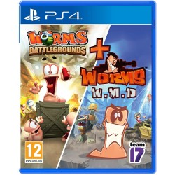 WORMS BATTLEGROUNDS + WORMS WMD DOUBLE PACK EU PS4
