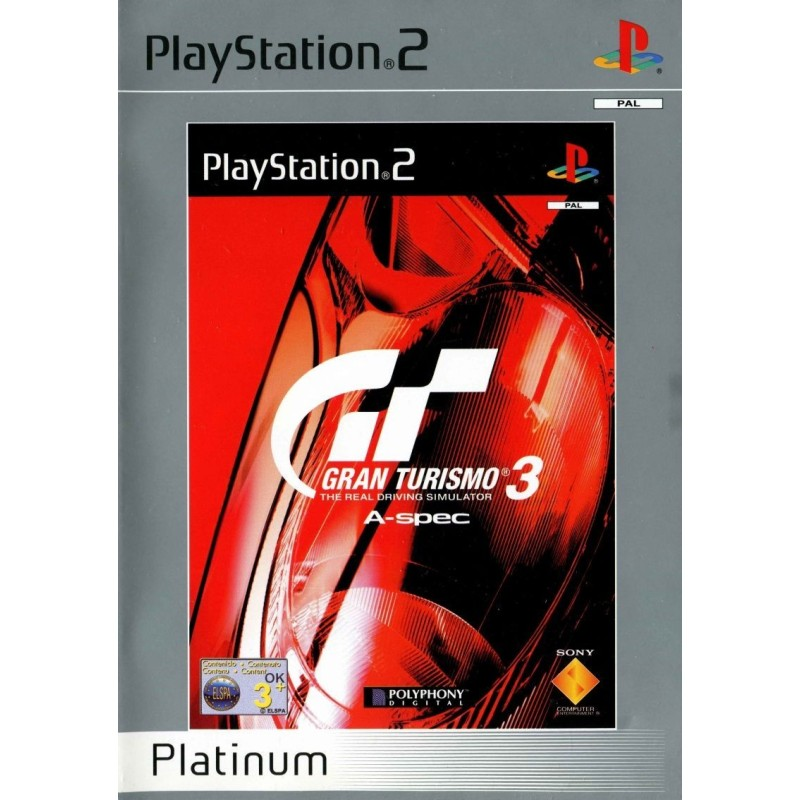GRAN TURISMO 3 THE REAL DRIVING SIMULATOR A SPEC PLATINUM