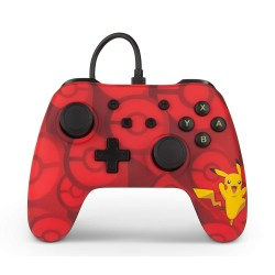 MANETTE FILAIRE ROUGE POKEMON PIKACHU SWITCH