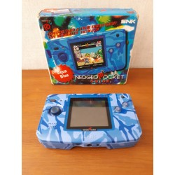 NEO GEO POCKET COLOR AQUA BLUE PAL TRES BON ETAT BOITE SANS NOTICE