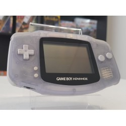 CONSOLE GAME BOY ADVANCE TRANSPARENTE ECRAN NEUF CACHE PILE NEUF