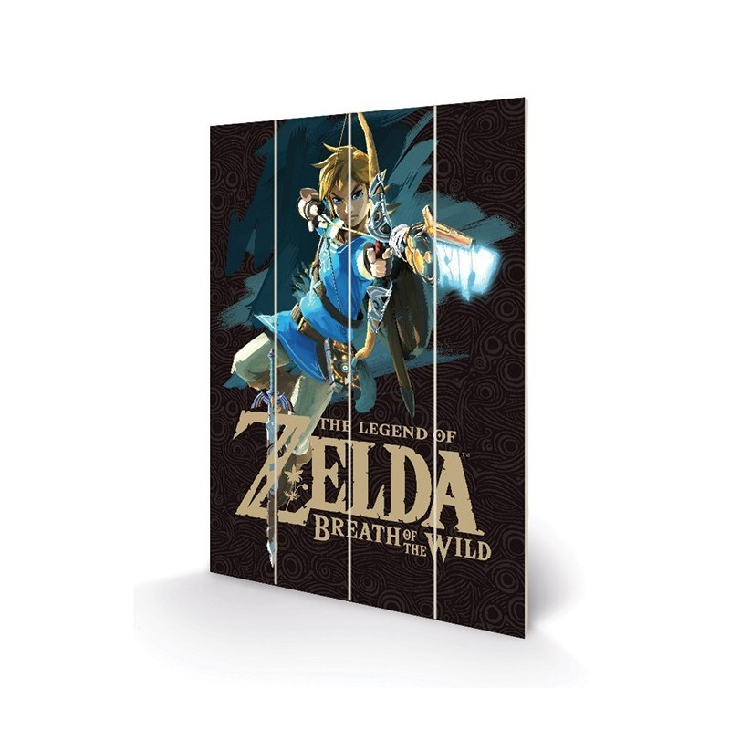 IMPRESSION BOIS ZELDA BREATH OF THE WILD GAME COVER 40X59 CM