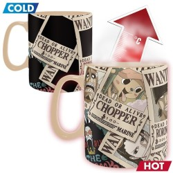 MUG ONE PIECE THERMOREACTIF WANTED 460ML