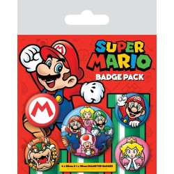 PACK BADGES SUPER MARIO NINTENDO