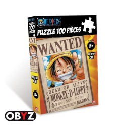 PUZZLE ONE PIECE WANTED LUFFY 100 PIECES