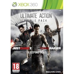 ULTIMATE ACTION TRIPLE PACK JUST CAUSE 2 SLEEPING DOGS TOMB RAIDER