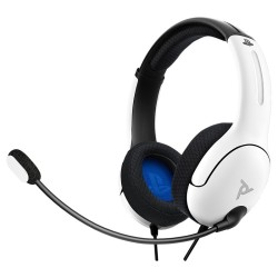 CASQUE PS4/PS5 LVL 40 FILAIRE BLANC