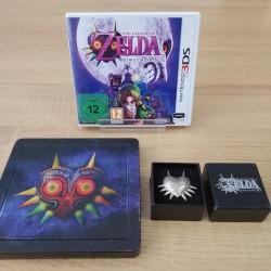 THE LEGEND OF ZELDA MAJORA MASK 3DS + STEELBOOK + POSTER + BROCHE