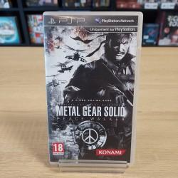 METAL GEAR SOLID PEACE WALKER SANS NOTICE PSP