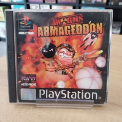 WORMS ARMAGEDDON COMPLET JAQUETTE ABIMEE PS1