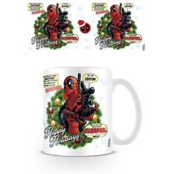 MARVEL MUG DEADPOOL TIS THE SEASON HAPPY HOLIDAYS
