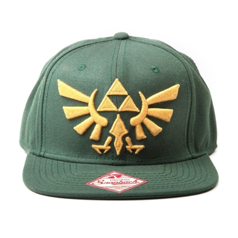CASQUETTE ZELDA GREEN GOLDEN LOGO