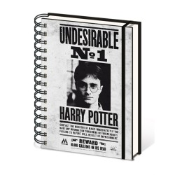 CARNET A SPIRALES HARRY POTTER UNDESIRABLE 1