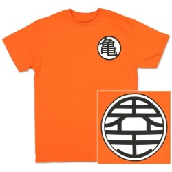 T-SHIRT DRAGON BALL Z KAME SYMBOL ORANGE