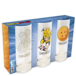 SET DE 3 VERRES DRAGON BALL Z