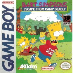 CARTOUCHE SEULE GAME BOY BART SIMPSONS ESCAPE FROM CAMP DEADLY OCCASION