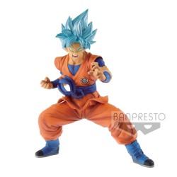 FIGURINE DRAGON BALL SUPER HEROES TRANSCENDENCE ART SON GOKU SUPER SAIYAN BLUE 18 CM