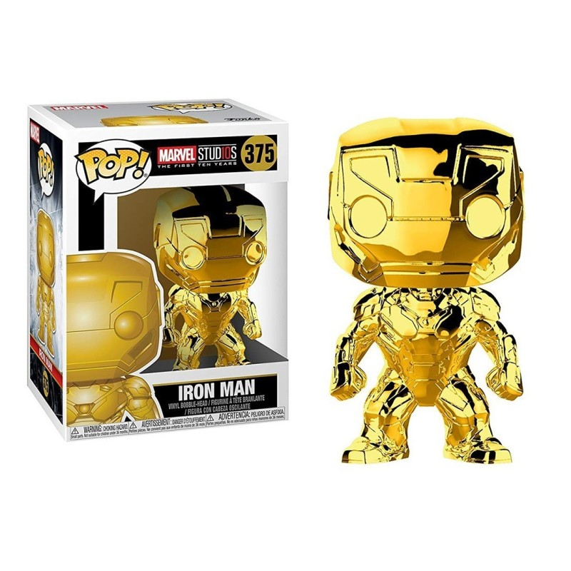FUNKO POP! IRON MAN GOLD CHROME - MARVEL STUDIO THE FIRST TEN YEARS N°375