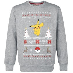 SWEAT HOMME POKEMON PIKACHU JUMPER CHRISTMAS