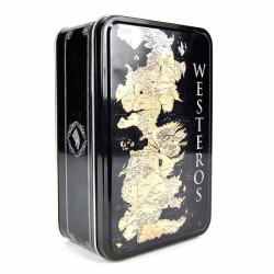 BOITE METAL CARTE WESTEROS GAME OF THRONES