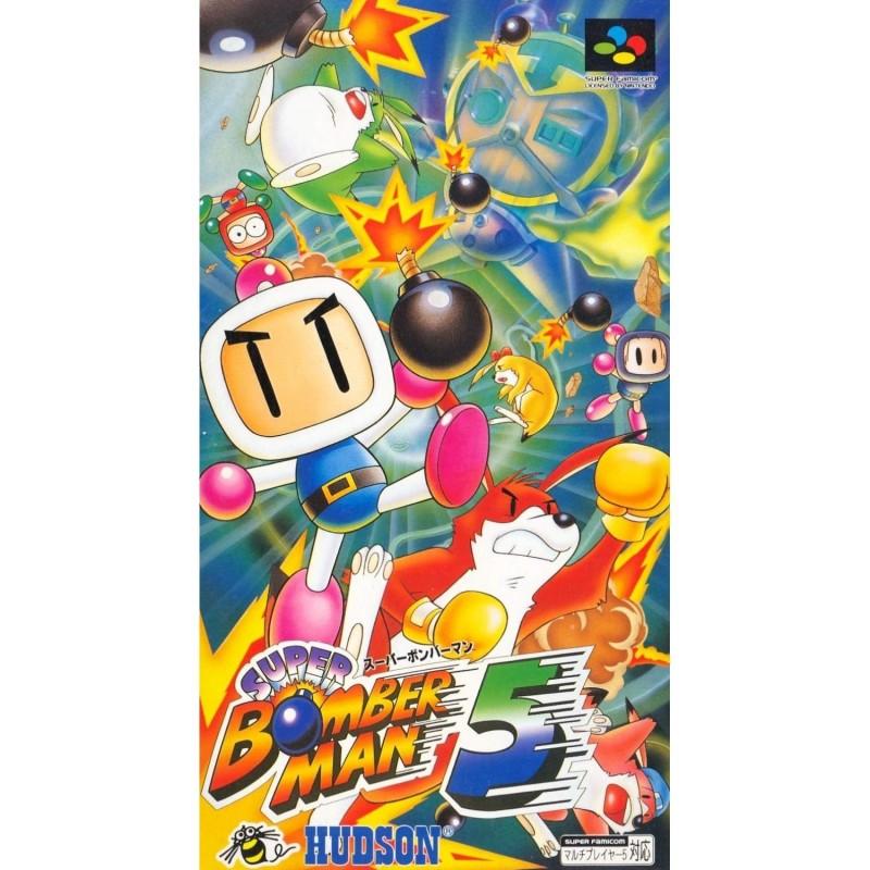 Les plus beaux visuels de boite Super famicom / Super Nintendo Super-bomberman-5-jap-complet-petite-dechirure-610