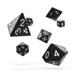 OAKIE DOAKIE DICE DES RPG SET SOLID NOIR
