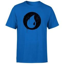 T-SHIRT (XL) MAGIC THE GATHERING BLUE MANA SPLATTER