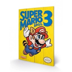 IMPRESSION SUR BOIS SUPER MARIO BROS 3