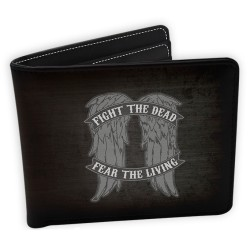PORTEFEUILLE WALKING DEAD FIGHT THE DEAD FEAR THE LIVING
