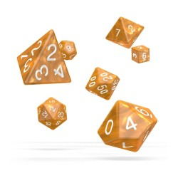 OAKIE DOAKIE DICE DES SET MARBLE ORANGE