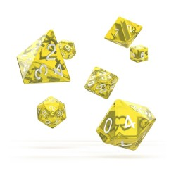 OAKIE DOAKIE DICE DES SET TRANSLUCENT JAUNE