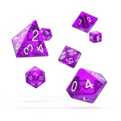 OAKIE DOAKIE DICE DES SET TRANSLUCENT VIOLET