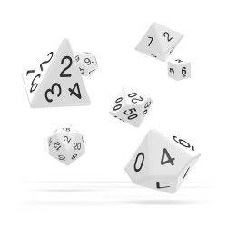 OAKIE DOAKIE DICE DES SET SOLID BLANC