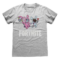 T-SHIRT (12-13 ANS) FORTNITE BUNNY TROUBLE GRIS