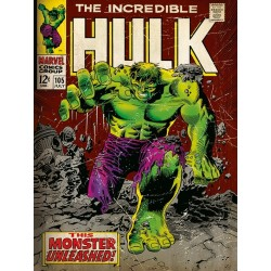 MARVEL COMICS CANVAS 30X40 HULK
