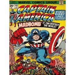 MARVEL COMICS CANVAS 30X40 CAPTAIN AMERICA