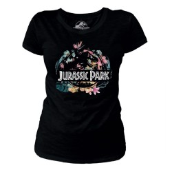 T-SHIRT (M) JURASSIC PARK TROPICAL FLOWER