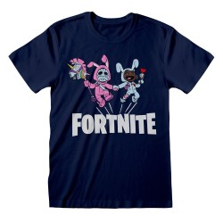 T-SHIRT (9-10 ANS) FORTNITE BUNNY TROUBLE BLEU MARINE