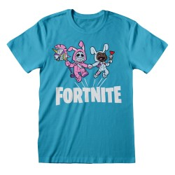 T-SHIRT (9-10 ANS) FORTNITE BUNNY TROUBLE BLEU AZUR